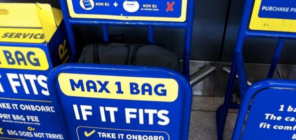 Нормы провоза багажа Ryanair